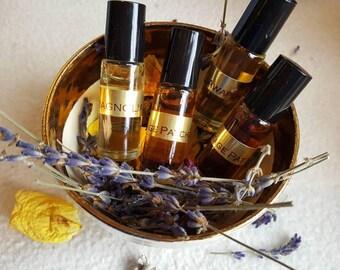 Violet Flame Botanical Perfume Oil.  Violets, Lavenders and Lemon Verbena.
