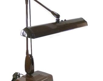 Dazor Desk Lamp Dazor Floating Fixture Drafting Table Lamp Industrial Task Lighting Vintage Metal Fluorescent Table Top Lamp