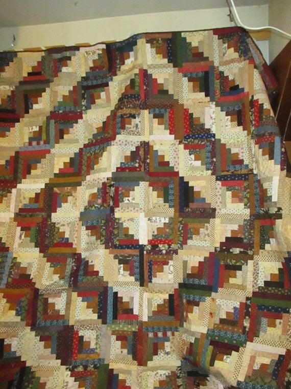 Log Cabin Quilt Pattern Free Queen Size : King Quilt Queen Size Quilt Log cabin Civil War