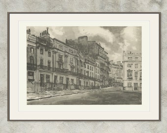 Victoria Square, Belgravia, Knightsbridge, London 39, 1946, Cubitt, Ediss, Britain World War 2, Mid-Century War Art WW2, London Architecture
