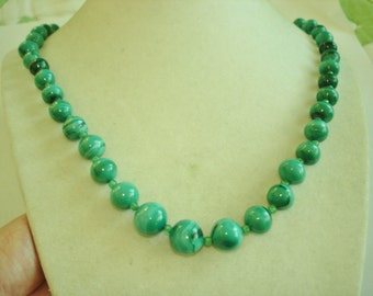 Malachite Green Jewelry Necklace Beads