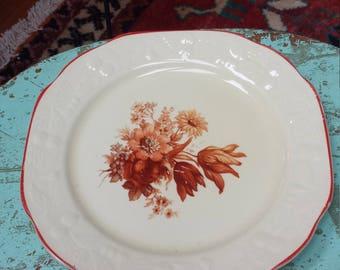 Crooksville Lunch plates, Vintage plates