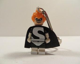 Syndrome Lego keyring keychain