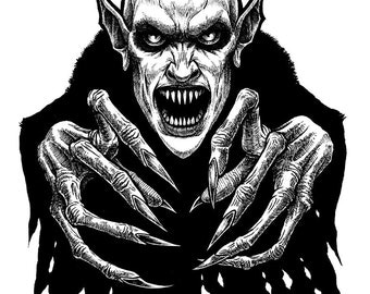 Nosfera-tude Original Vampire Drawing