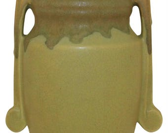 Roseville Pottery Carnelian I Green Wall Pocket 1249-9