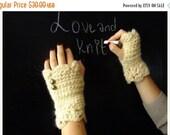 SALE gloves / ivory fingerless gloves / knit / hand warmers / knit fingerless gloves / winter gloves / gift for her / mittens / fingerless g