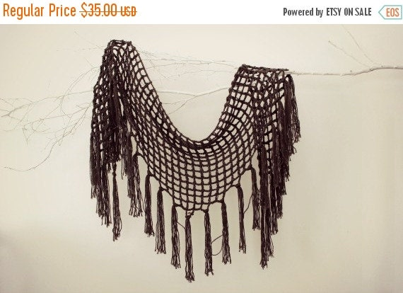 SALE Crochet Shawls Triangle Scarf Knit Shawl Wrap Shawl Wedding Shawl Fishnet Shawl Scarf Christmas Gift Gift For Her Winter Accessories