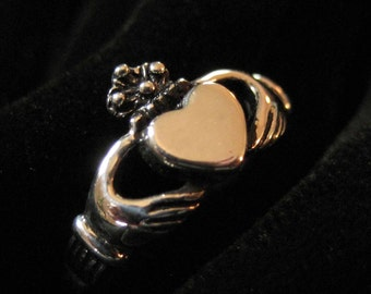 Sterling Silver Claddagh Toe Ring Size 4