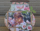 Graphic 45 Handmade Vintage Paper Piecing 3D Greeting Card Portrait of a Lady