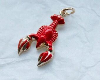 1 Vintage 1950s / 1960s Surrealist Lobster Pendant