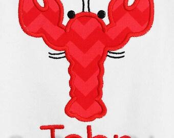 Lobster T-Shirt or Bodysuit, Toddler Lobster Shirt, Boy Beach Shirt, Beach Trip, Girls or Bodys, Custom, You Pick the Fabric