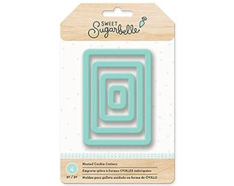 Sweet Sugarbelle Nested Rectangle Cookie Cutter Set, Rectangle Biscuit Cutters, Rectangle Pastry Cutters, Plaque Cookie Cutters