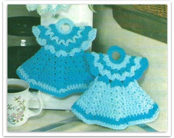 Crochet Doll Dress Potholder Pattern - PDF 03431209