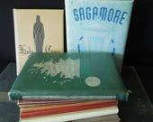 Book Stack - Books for Decor Props Staging - Repurpose Year Books College High School - Vintage