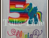 Rainbow Dash Pony number birthday shirt 1st 2nd 3rd 4th 5th 6th 7th 8th 9th