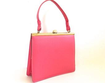 Vintage Bubblegum Pink Lady Handbag