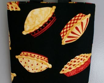 Gift Bags Apple Pie Tote Bags and Purses Totes Shopping bag Shopping Supplies Kitchen Bags Apple Pie Theme Black Gift Bag Multi Color Tote