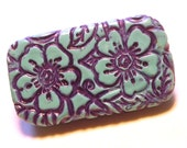 MINI Pill Box Blue Wildflowers Metal slide top tin Purse accessory Handmade Gift Vitamin Holder Travel Pill Box FREE Velvet Gift Pouch