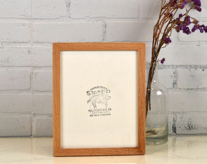 Natural Oak 8x10 Picture Frame in Peewee Style - IN STOCK - Same Day Shipping - Solid Hardwood Oak Frame 8 x 10