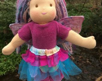 Waldorf Fairy Doll 9.5 inch Waldorf inspired Noble Fairy Doll Raspberry  Fairy