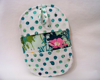 Pinch Pot Holder in Mother's Garden Rich - Hot Pad - Ready To Ship
