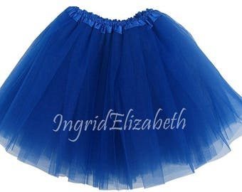 Royal Blue Teen Adult 4 Layer Tutu ... Adult Tutu Costume Color Run Tutu Bachelorette Party