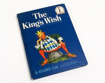 Vintage 1960s Childrens Book / The King's Wish and Other Stories by Benjamin Elkin 1960 Hc / Suess I Can Read It All By Myself Beginner Book