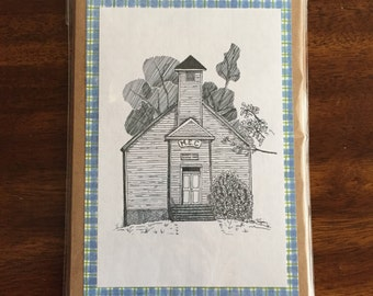 Bandy's Chapel Print Handmade Greeting Card Note Card