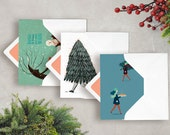 pack 3 xmas with 3 envelopes