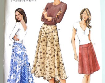 Vogue Pattern V7831 Misses Skirt BOHO Size 6-10 UNCUT