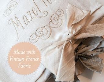 Embroidered Mazel Tov Smash Pouch: English & Blush