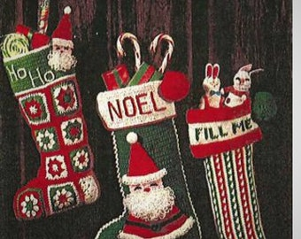 Christmas Stockings PATTERN - 2 to Crochet 1 to Knit - For the Holidays