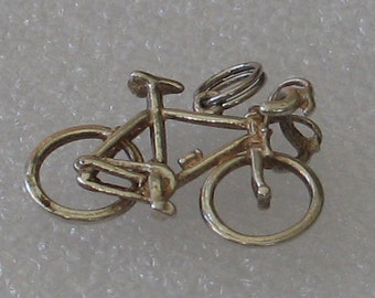 Vintage Sterling Silver Bicycle Charm