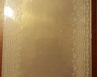 Darice Embossing folder-used out of the package, great condition lacey border design