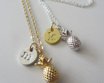 Gold Pineapple Necklace, Silver Pineapple Necklace,Personalized Jewelry, Bridesmaids Gift,Gift for Her,Gold Necklace,Pineapple,Gold Pinepple