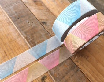 MT 2017 New - Japanese Washi Masking Tapes / Line gradation Silver or Gold for journaling, scrapbooking, packaging, party deco, card making