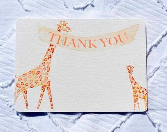Printable Giraffe Thank You Note