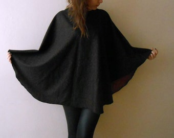 Hooded Cloak Cape coat Wool Poncho, hooded poncho, Women cape Oversized Poncho, Fall Fashion, Boho Poncho, Autumn Womens Outerwear