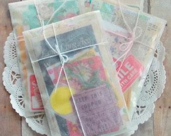 Super Mini Paper Pack / 25+ Pieces / Vintage & New  / Grab Bag / Scrap Pack