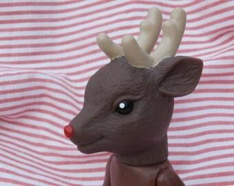 Vintage Reindeer Air Freshener Doll, Fibre Craft Supply, 6.5 inch Christmas Theme Rudolph