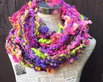 Art On The Prom Luxury  Dyed Lock Spun British Wensleydale Yarn knitting weaving Crochet 430grams