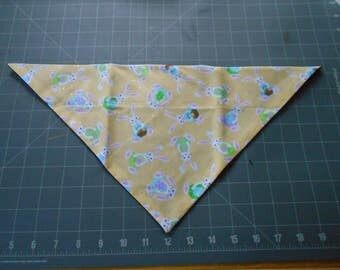 Bunnies Easter Dog Bandana, Neckerchief, Eggs, Basket, Rabbit