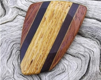 Multi-Wood Guitar Pick - Premium Quality - Handmade with 4 Different woods - Actual Pick Shown - Artisan Guitar Pick