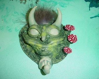 Original stoneware creature keyholder