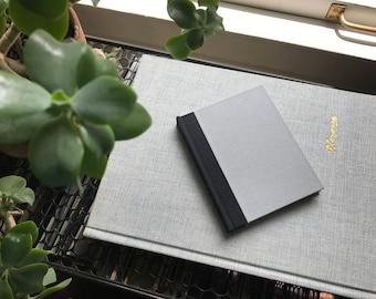 Colorblock // Small Hardcover Book // Gray & Beige