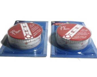 "Self-Adhesive Measuring Tape | 2 Packages of Singer 25' x 3/4"" wide Measure Tape 