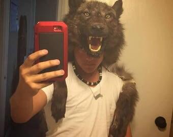 Wolf headdress custom made to order native american made choose