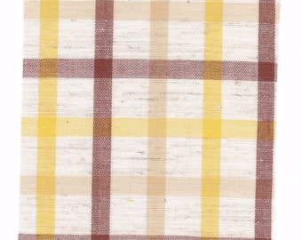 Fabric Precut 3 1/2 Inch Squares - 40 Pieces Brown ~ Tan ~  Pastel Yellow Cotton Material 4 Charm Quilting, Scrapbooking, Miniature Projects