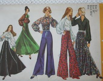 Simplicity 5310 Skirt Pants Blouse 1970's Uncut