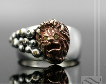 The Lion's Mane - Sterling, Bronze and Sapphire